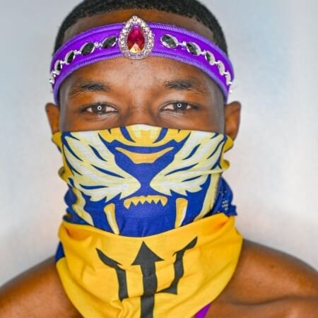 Barbados Flag Face