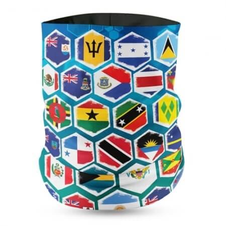 Unity All Caribbean Flag Face Bandana