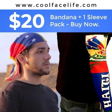 Buy Any Flag Bandana & Sleeve For $20