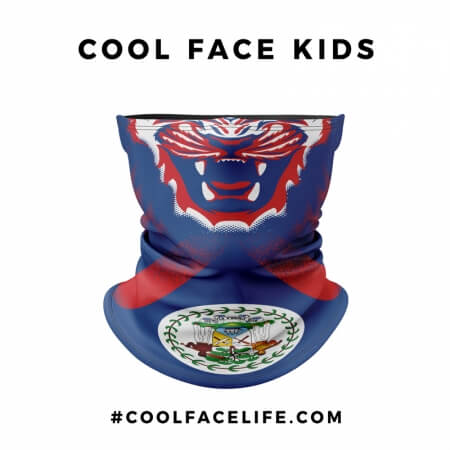 Kid Size - Belize Flag Face Bandana