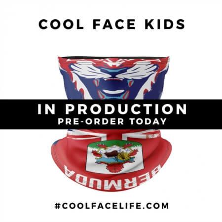 Kids Size – Bermuda Flag Face Bandana