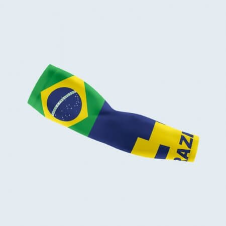 Brazil Flag Themed Arm Sleeve