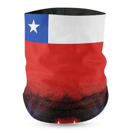 Chile Flag Face Bandana