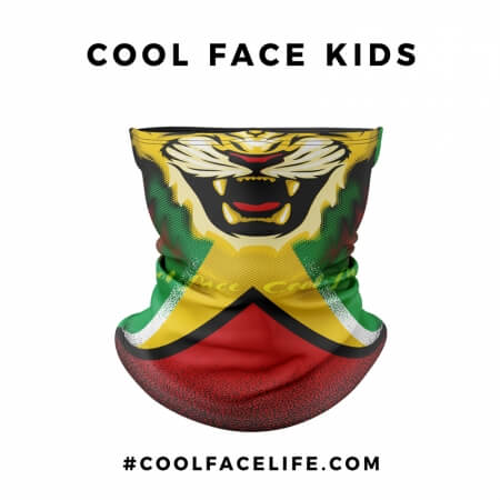 Kid Size - Guyana Flag Face Bandana