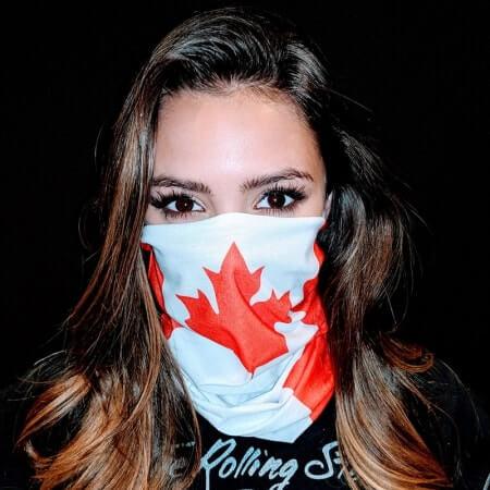 Canada Flag Face