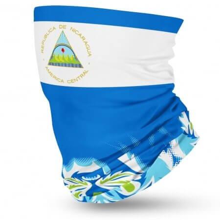 Nicaragua Flag Face