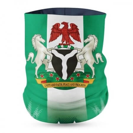 Nigeria Flag Face