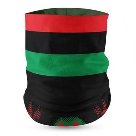 Pan African Flag Face