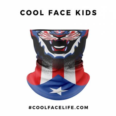 Kid Size - Puerto Rico Flag Face Bandana