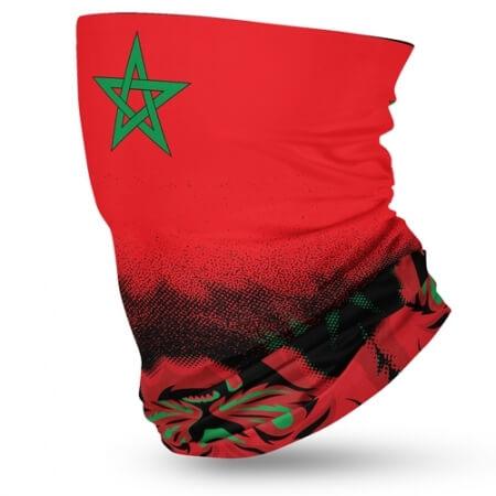 Morocco Flag Face