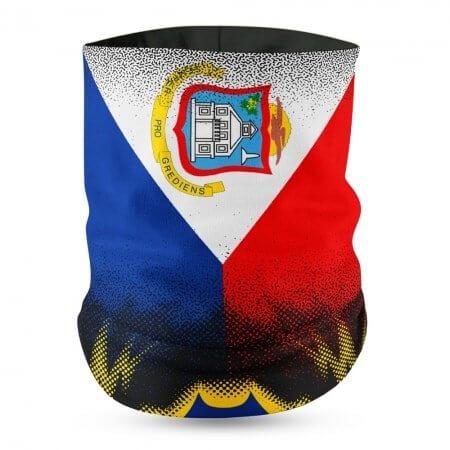 St Maarten Flag Face