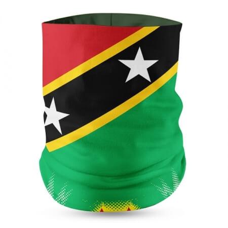 St. Kitts Flag Face