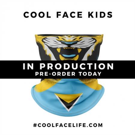 Kids Size – St Lucia Flag Face Bandana