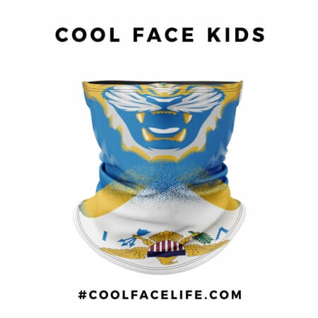 Kid Size - US Virgin Islands Flag Face Bandana